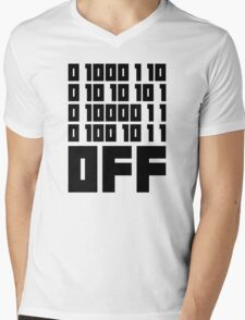 Fuck Off - Binary Code Mens V-Neck T-Shirt