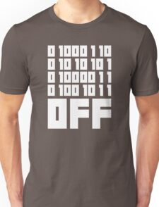 Fuck Off - Binary Code Unisex T-Shirt