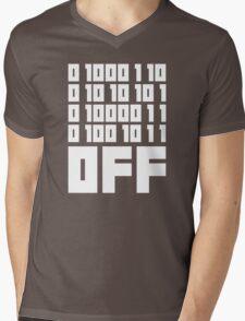 Fuck Off - Binary Code Mens V-Neck T-Shirt