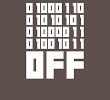 Fuck Off - Binary Code Womens Fitted T-Shirt