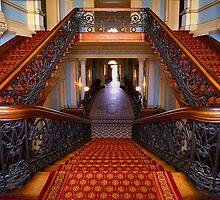 The Staircase- Werribee Mansion by Hans Kawitzki