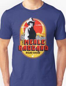 New Merle Haggard Country Music Tour Logo Men's Black T-Shirt T-Shirt