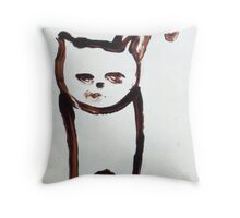 Scat, Cat! 6 Throw Pillow