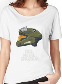 Full Metal Spartan (dark) Women's Relaxed Fit T-Shirt