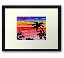 A Tranquil moment in time, watercolor Framed Print
