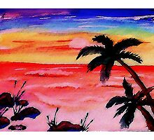 A Tranquil moment in time, watercolor Photographic Print