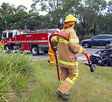 Bunyip Firebrigade in action by Bev Pascoe