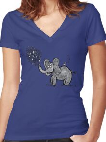 Lalee The Elephant Women's Fitted V-Neck T-Shirt