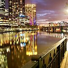 Melbourne at Night 2055 by Kayla Halleur