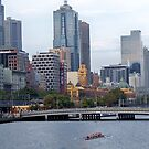 Boating on the Yarra 0778 by Kayla Halleur