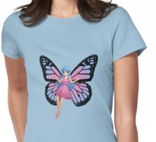 pink, blue and green fairy Womens Fitted T-Shirt