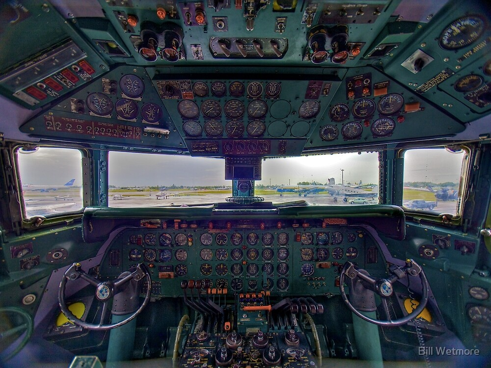 DC7B Cockpit by njordphoto