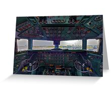 DC7B Cockpit Greeting Card