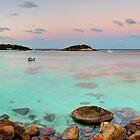 Anchor Bay Moonset by Adam Gormley