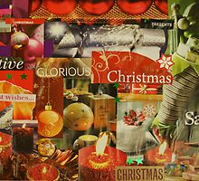 Christmas Collage by Marian Way