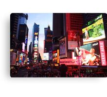 Times Square in New York City at night photography Canvas Print