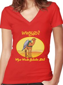 What Would Kaboobie Do? Women's Fitted V-Neck T-Shirt