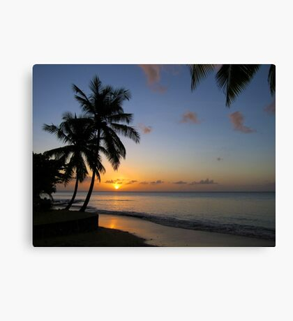 St Lucia Sunset Canvas Print