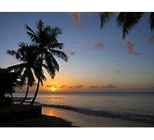 St Lucia Sunset Photographic Print
