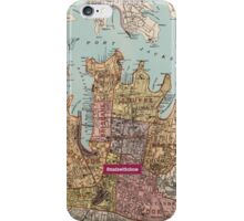 City of Sydney map iPhone Case/Skin