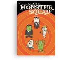 Monster Squad Canvas Print
