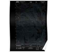 USGS Topo Map Washington State WA Kooskooskie 20110914 TM Inverted Poster