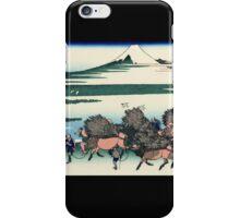 'Ono Shindon in the Suruga Province' by Katsushika Hokusai (Reproduction) iPhone Case/Skin