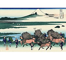 'Ono Shindon in the Suruga Province' by Katsushika Hokusai (Reproduction) Photographic Print