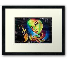 Girl in Love Framed Print