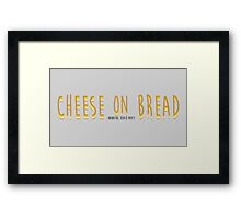 Cheese on read Framed Print