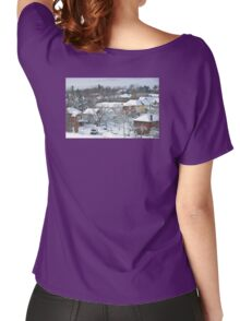 The Morning after a Big Snowstorm in Toronto, ON, Canada Women's Relaxed Fit T-Shirt