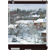 The Morning after a Big Snowstorm in Toronto, ON, Canada iPad Case/Skin
