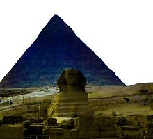 The Great Sphinx and Pyramids of Giza by rc2061988