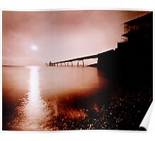 Clevedon pier pinhole camera image Poster