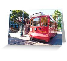 trolley travels Greeting Card