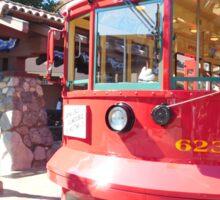 trolley travels Sticker