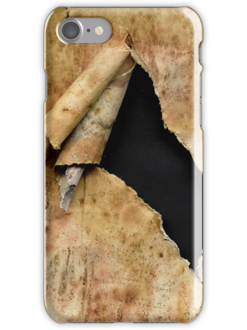 Torn paper iPhone case by Artual