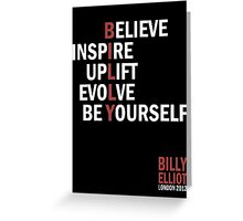Billy Elliot The Musical Live Logo  Greeting Card