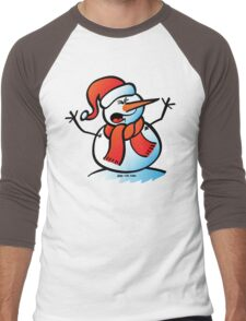 Snowman Shouting Men's Baseball ¾ T-Shirt