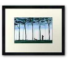 A walk in the wood Framed Print