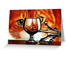 mirror cat Greeting Card