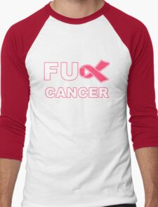 Fu** Cancer - Pink Men's Baseball ¾ T-Shirt