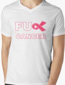 Fu** Cancer - Pink Mens V-Neck T-Shirt