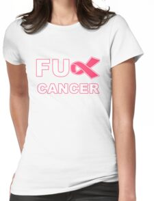Fu** Cancer - Pink Womens Fitted T-Shirt