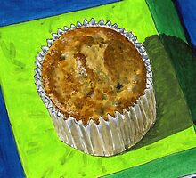 Blueberries covered in muffin by bernzweig