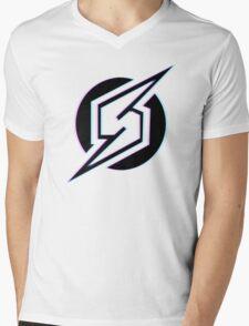 3D Samus logo Mens V-Neck T-Shirt