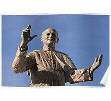 Statue of Pope John Paul II, Basilica of Notre-Dame de Fourvière, Lyon, France Poster