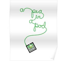 ipod pea in a pod Poster