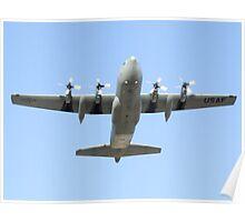 C-130 Hercules Belly Shot Poster