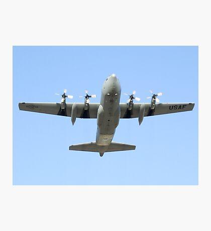 C-130 Hercules Belly Shot Photographic Print